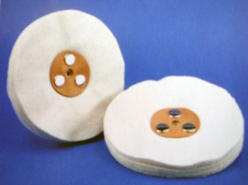 Buffing Wheels - flannel white leather centre SWL20300
