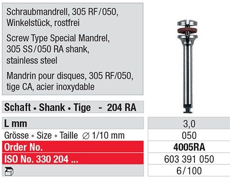 Screw Type Special Mandrel 4005RA