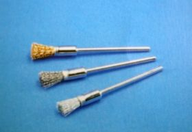 Pensil brushes (PI-H) mounted - different wires
